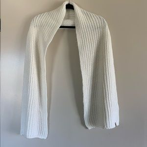 Levi's | Cream Knit Ribbed Solid Neutral Scarf